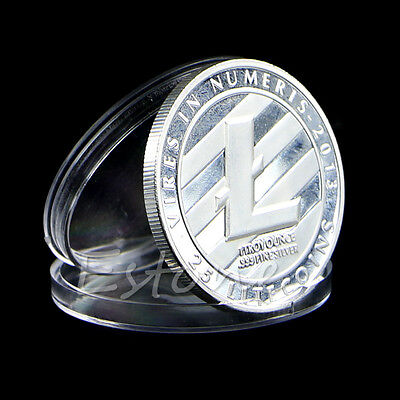Silver Plated Litecoin Coins Vires in Numeris Commemorative Coin Collection NEW