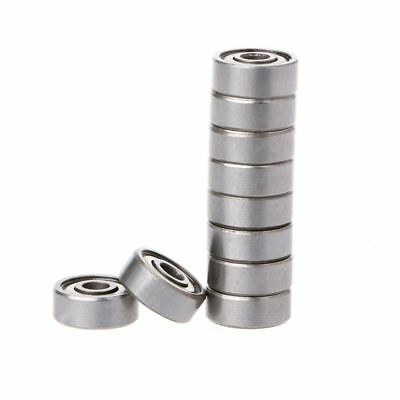 10Pcs 624ZZ Mini Metal Double Shielded Flanged Ball Bearing For 3D Printer Parts