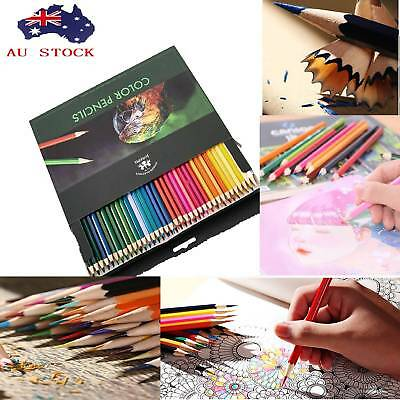72pcs Watercolor Wooden Art Pencils Pen Artists Drawing Sketching Water Soluble