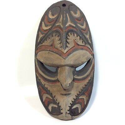 Vintage Small PNG Hand Carved Wooden Mask Papua New Guinea