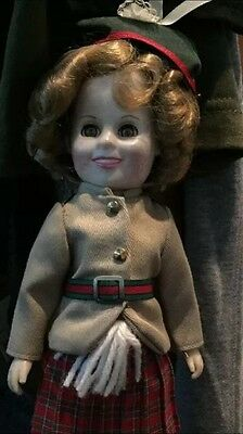 """Marked 12"""" Shirley Temple Doll Original Dress, Marked On Back Of Head"""