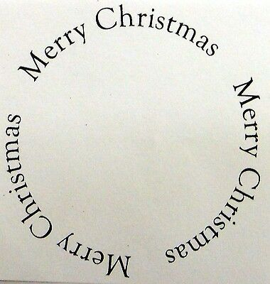 Unmounted rubber Stamp Merry Christmas 45mm Circle Frame
