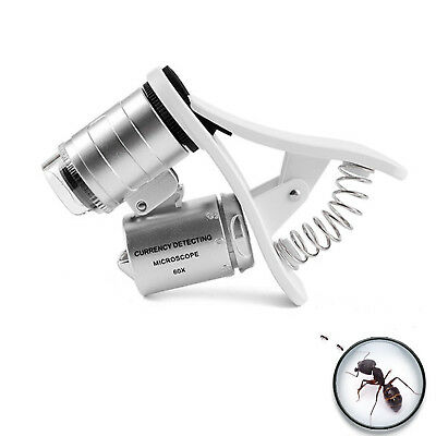 Cell Phone Microscope 60X Optical Zoom Magnifier Clip Smartphone Camera Lens New