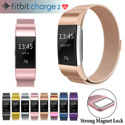 For Fitbit Charge 2 Strap Replacement Milanese Loop Band Stainless Steel Magne