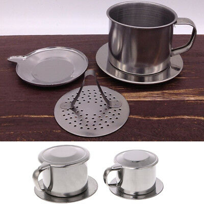 1 Vietnam Vietnamese Stainless Steel Coffee Filter Cup Drip Maker Infuser Handle