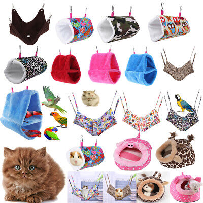Hammock for Pet Hamster Rat Parrot Cat Ferret Hamster Hanging Bed Cushion Pad