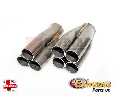 35mm Performance S/S Custom 4 into 1  Exhaust Manifold Collector Hot Rods Bikes