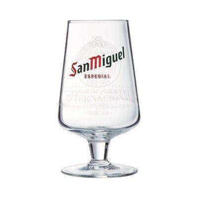 Official San Miguel Chalice Half Pint Beer Glass 10oz - Box of 24