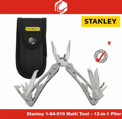 Stanley Multi Function 12 in 1 Pliers Multitool 0-84-519 camping tool & pouch