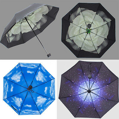 Fashion Windproof Double Layer Reverse Folding Inverted Upside Down DIY Umbrella