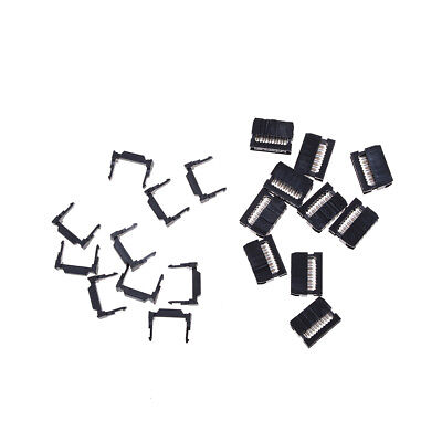 10X FC-10P IDC 2.54mm Connector Female Header 10pin 2x5 JTAG ISP Socket Black HL