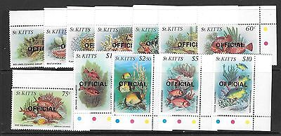 St.kitts Sgo29/40 1984 Marinelife Officals  Mnh