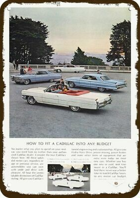 1964 CADILLAC DeVILLE CONVERTIBLE SEDAN & COUPE Vintage Look  Metal Sign