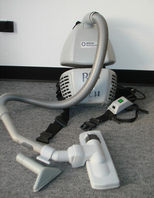 120V Backpack Vacuum Cleaner By Nilfisk Advance, For Parts Or Repair