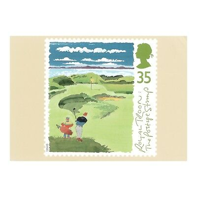 """Royal Troon Golf Course """"the Postage Stamp"""" Ayrshire Royal Mail Phq 163 Postcard"""