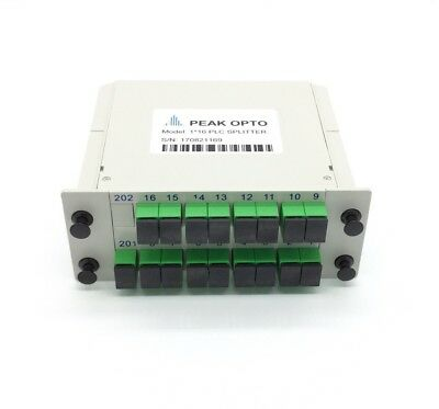1X16 Blade optical splitter, PLC  carrier-class fiber optic splitter SC-APC