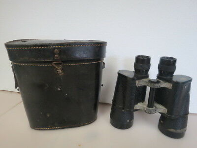 WW2 German E.Leitz Wetzlar 7 x 50 Marsept Binocular with Case W357C