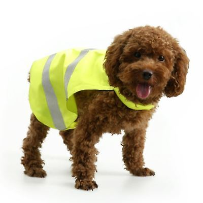 New High Viz Hi Visibility Pet Dog Vest Reflective Flourescent Safety Jacket