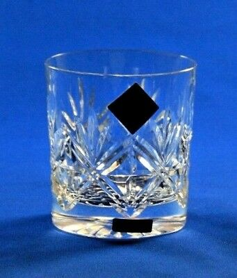 EDINBURGH CRYSTAL - NESS DESIGN - WHISKY TUMBLER GLASS 7.6cm  /  3""