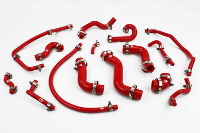Stoney Racing Mazda MX5 MK1 1.6 Silicone Coolant & Breather Hose Kit Red Miata