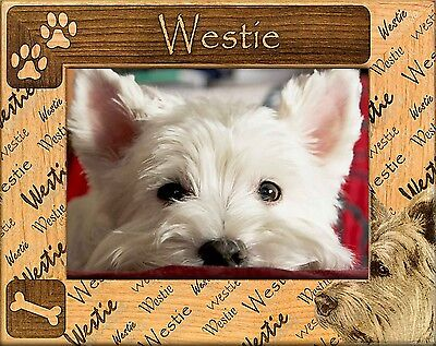 CAIRN TERRIER ENGRAVED ALDERWOOD PICTURE FRAME #0043 Available in four sizes