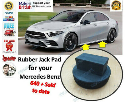 Mercedes Benz rubber Jack Jacking Pad New Made In UK also fits BMW Merc classic