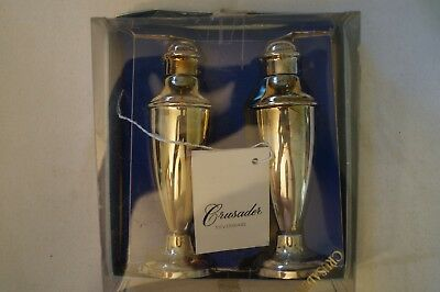 Collectable - Vintage - Boxed Pair of Crusader Salt and Pepper Shakers