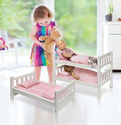 Triple Bunk Bed For 18 Inch Dolls Toys Girls Age 10 American Girl