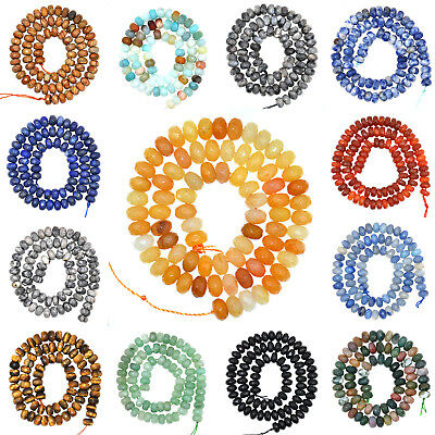 Natural Gemstones 5mm x 8mm Faceted Rondelle Spacer Loose Beads 7.5'' Strand