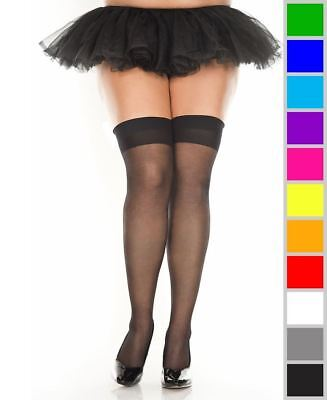 98bd79efb27 NEW MUSIC LEGS 4630 Sheer Argyle Thigh High Stockings Socks -  9.06 ...