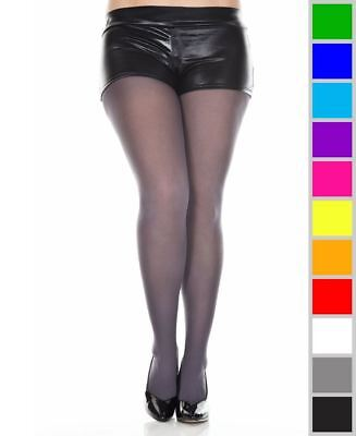 ed8b4f885f452 NEW MUSIC LEGS 747Q Plus Size Opaque Tights Pantyhose - $7.44 | PicClick