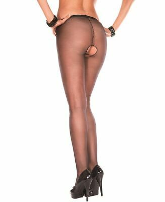 New Music Legs 800 Sheer Crotchless Pantyhose