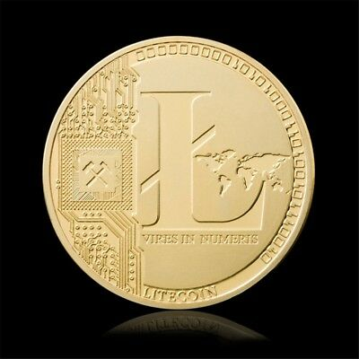 Litecoin Coin Commemorative Coins Gold Silver Plated Collection Physical Gift GW