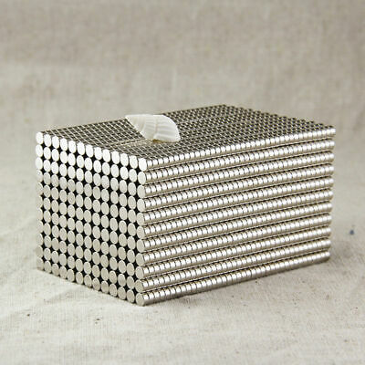 100pcs 2 x 1mm Small Disc Rare Earth Neodymium N35 Permanent Round Strong Magnet