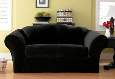 Sure Fit Sofa Slipcover Stretch Pique Separate Seat Box Style