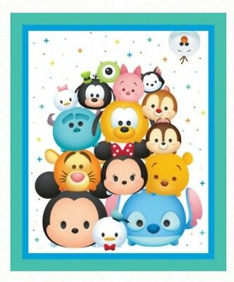 Disney Tsum Tsum Quilt Panel * New * Cute Baby Disney Characters * Free Post *