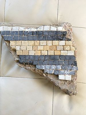 Roman Mosaic tile piece circa 2nd -3rd century unearthed in Hertfordshire, UK
