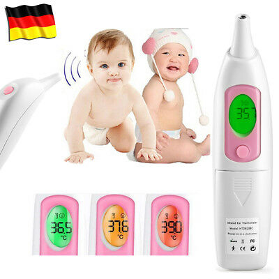 Digital LCD Infrarot Ohr-Thermometer Fieberthermometer Baby STIRNTHERMOMETER DE