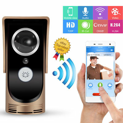 WIFI Wireless Door Bell Night Vision Video HD Camera Intercom PIR Door Chime AU