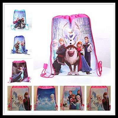 Kids Brand Disney Frozen Elsa Library drawstring swim beach school Bag Fancy NEW
