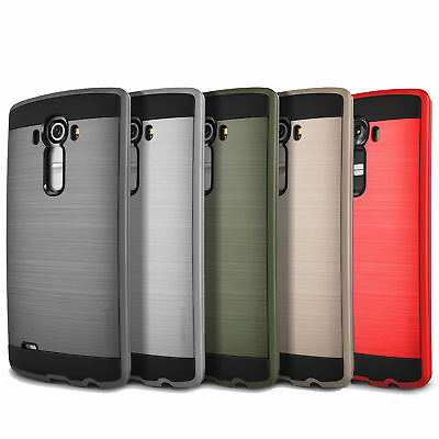 Brushed Armor Hybrid Rugged Dual Layer Shockproof Case Cover for LG G3 G4 G5 G6