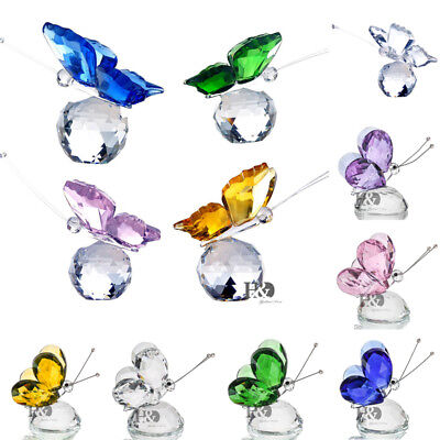 Crystal Butterfly Ornament Crystal Glass Craft Paperweight Birthday Xmas Gift