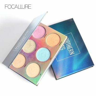 Rainbow Unicorn 6 Colors Shimmer Bronzer Highlighter Glow Palette Makeup Glitter
