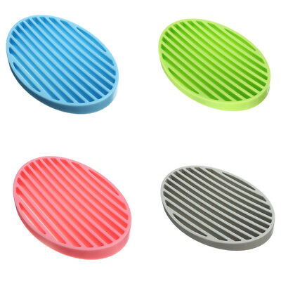 SALE Flexible Silicone Bathroom Soap Dish Plate Holder Tray Soapbox MIXColour BV