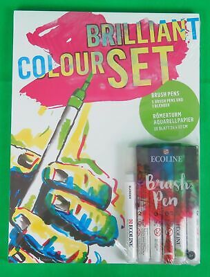 RÖMERTURM Brilliant Colour Set, 20 Blatt, 5 Brush Pens, 1 Blender