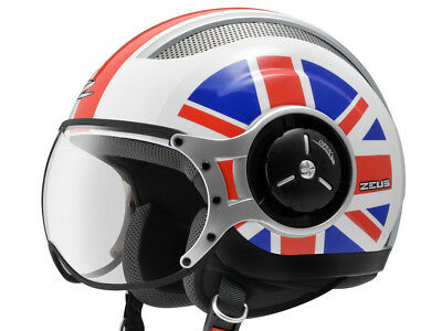 Jet Helmet Open Face Demi Motorbike Scooter Custom Avio Clear Visor White XL