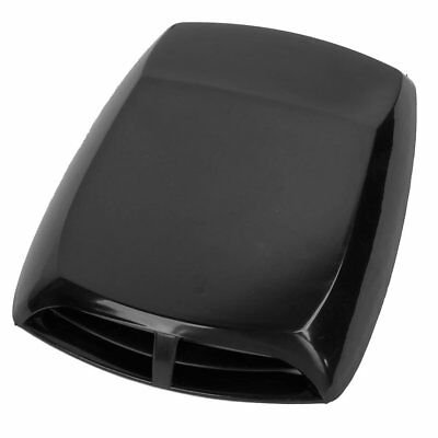 Universalr Air Flow Intakeoop Turbo Bonnet Vent Cover Hood Black DP M1N4