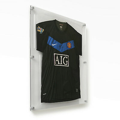 Modern Acrylic Sports Shirt Display Frames in All Colours for Football & Rugby