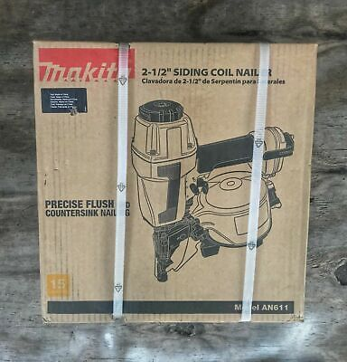 MAKITA - AN611 1‑1/4 In. to 2‑1/2 In. Coil Siding Nailer