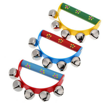 Musical Toy for KTV Kids Little Hand Held Tambourine Bell Metal Jingles Bal H1X0